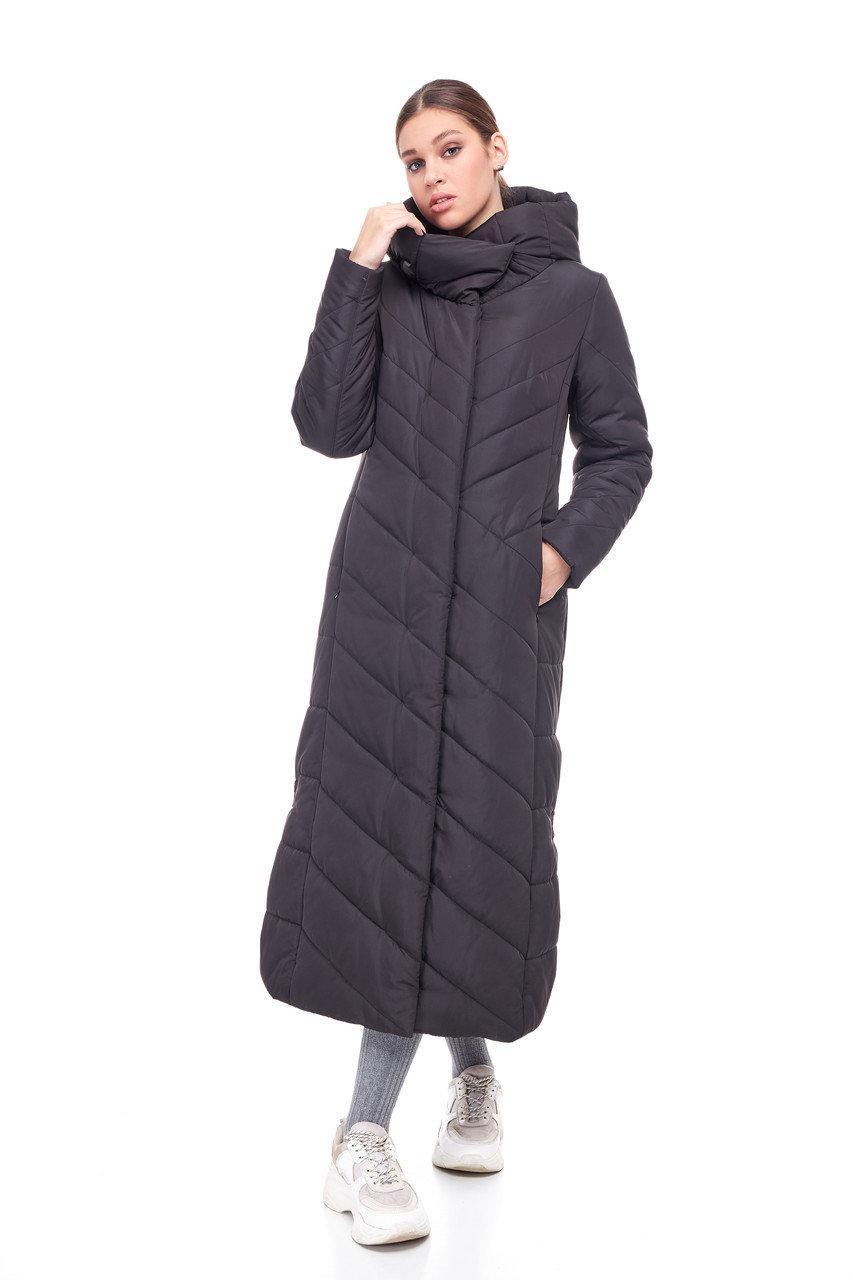Модное зимнее удлиненное пальто  Размеры 42-54