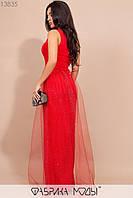 Эффектное вечернее платье в пол на одно плечо с 42 по 46 размер, фото 3