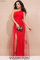 Эффектное вечернее платье в пол на одно плечо с 42 по 46 размер