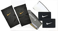 Щитки футбольные SPORTS (черные) держатели(сеточки) NIKE, тейпы (резинки) для щитков NIKEНайкчерные