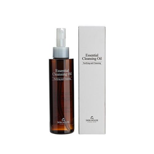 Гидрофильное масло с подсолнечником, оливкой и шиповником The Skin House Essential cleansing oil