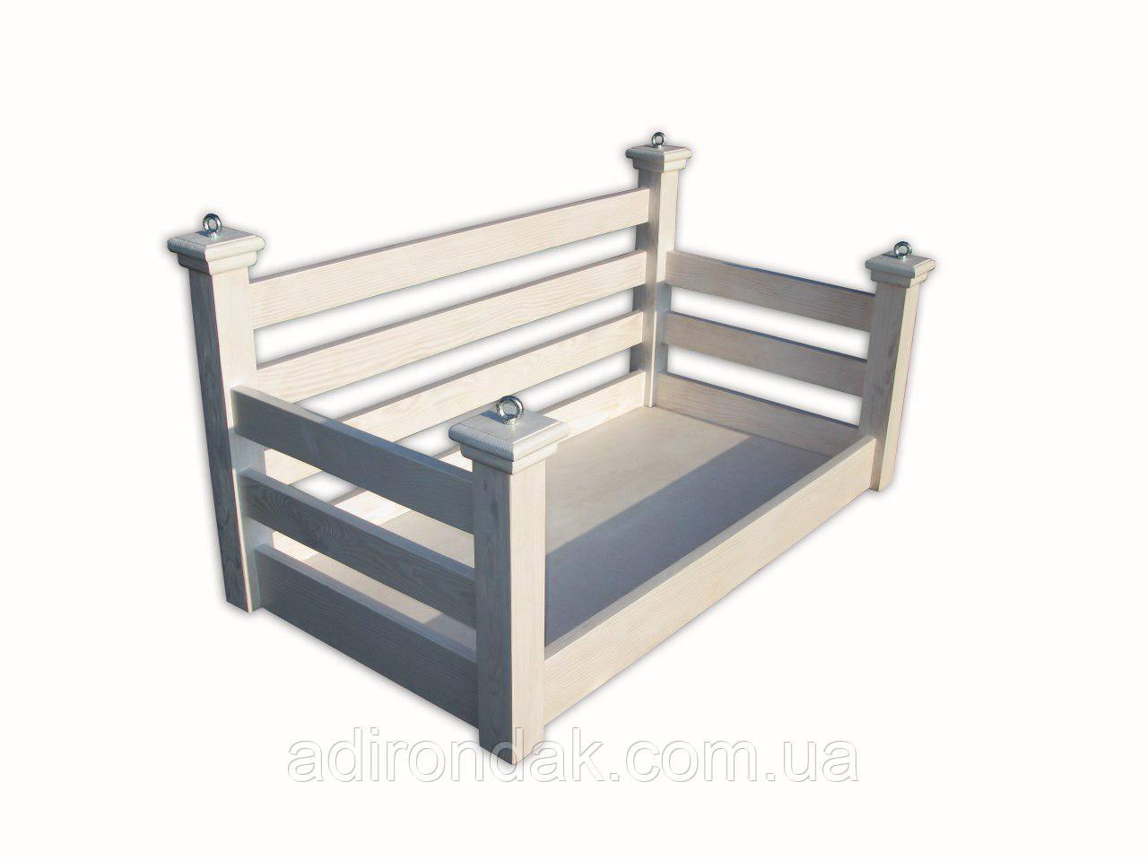 Подвесная кровать-качеля на балкон