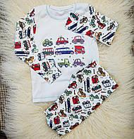 Детская пижама (кофта и штаны) из интерлока для мальчиков OBABY (395-110)