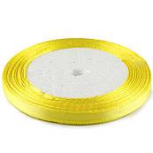 Лента атласная 0,6 см Желтая 23 м (15)