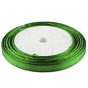 Лента атласная 0,6 см Зеленая 23 м (19)