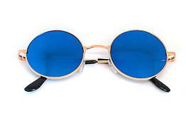 Очки солнцезащитные (SG-004) синий, оправа цвет золотой