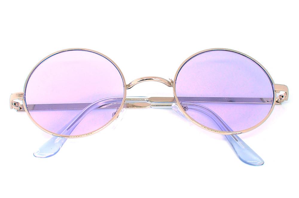 Очки солнцезащитные (SG-013) прозрачный сиреневый, оправа цвет стальной