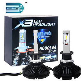 Ксенон Лед лампы LED X3 HEADLIGHT H7, фото 2