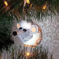 Формовая стеклянная игрушка Мышонок, фото 1