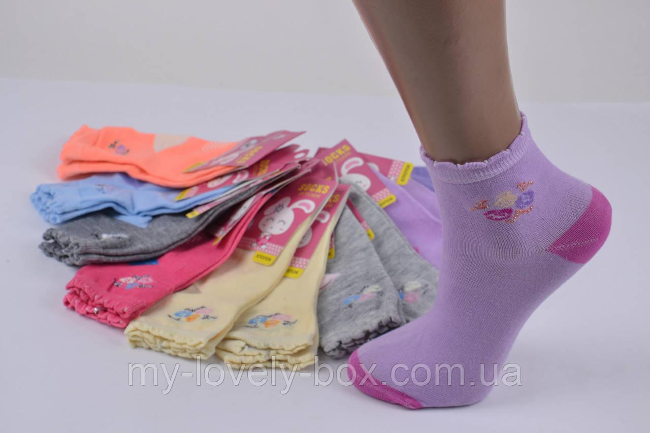 "ОПТОМ.Детские носки на девочку ""КОРОНА"" ХЛОПОК (C3133/25-30) | 12 пар"