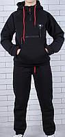 Подростковый  утеплённый спортивный костюм оптом 134-164 чёрный, фото 1