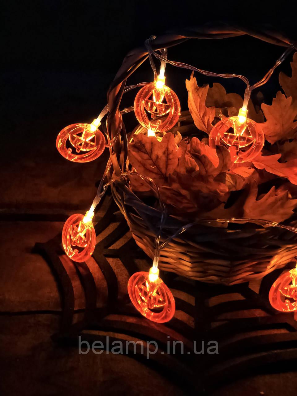"Светодиодная гирлянда на хэллоуин ""Крутые тыквы"""