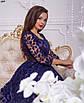 Вечернее платье флок, стрейч-атлас 42, 44, фото 7