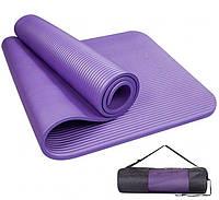 Коврик-Мат для йоги и фитнеса из вспененного каучука I.Care NBR 180х78см + чехол (MS 2608-1)