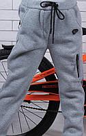 Штаны спортивные утеплённые оптом 98-104-110-116-122-128 серые, фото 1