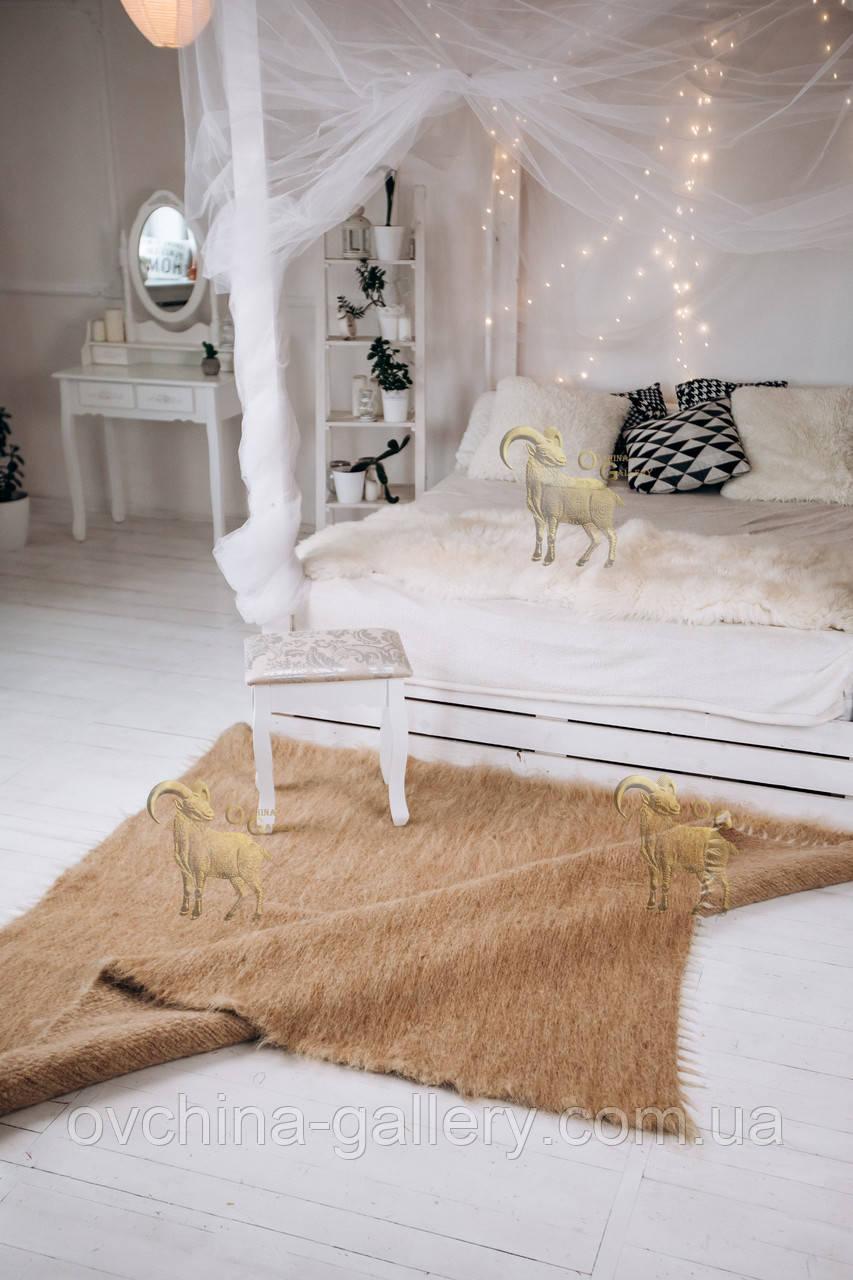 Лижнык карпатское одеяло Однотонный беж 150х200 см