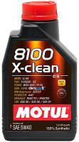 Моторное масло MOTUL 8100 X-CLEAN 5W40 (1л) ACEA C3, API SN