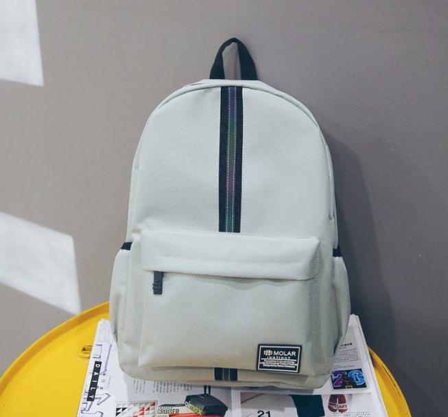 Рюкзак с полосой серый