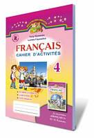 Зошит з французької мови, 4 кл (для спец.шкіл) Автори: Клименко Ю.М.