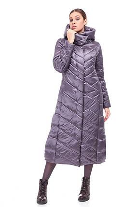 Модное зимнее удлиненное пальто  Размеры 42-54, фото 2