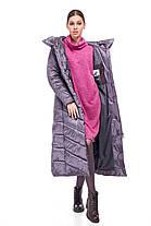 Модное зимнее удлиненное пальто  Размеры 42-54, фото 3