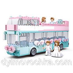 Конструктор «Girls Dreams. Свадебный автобус» M38-B0769 Sluban, 379 деталей и мини-фигурки