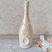 Свадебное шампанское декорированное 1 бутылка, фото 1