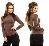 Женский теплый гольф,ткань трикотаж кашемир,размер:42-46, фото 2