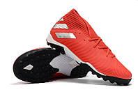 Футбольные сороконожки adidas Nemeziz 19.3 TF Active Red/Silver/Solar Red, фото 1