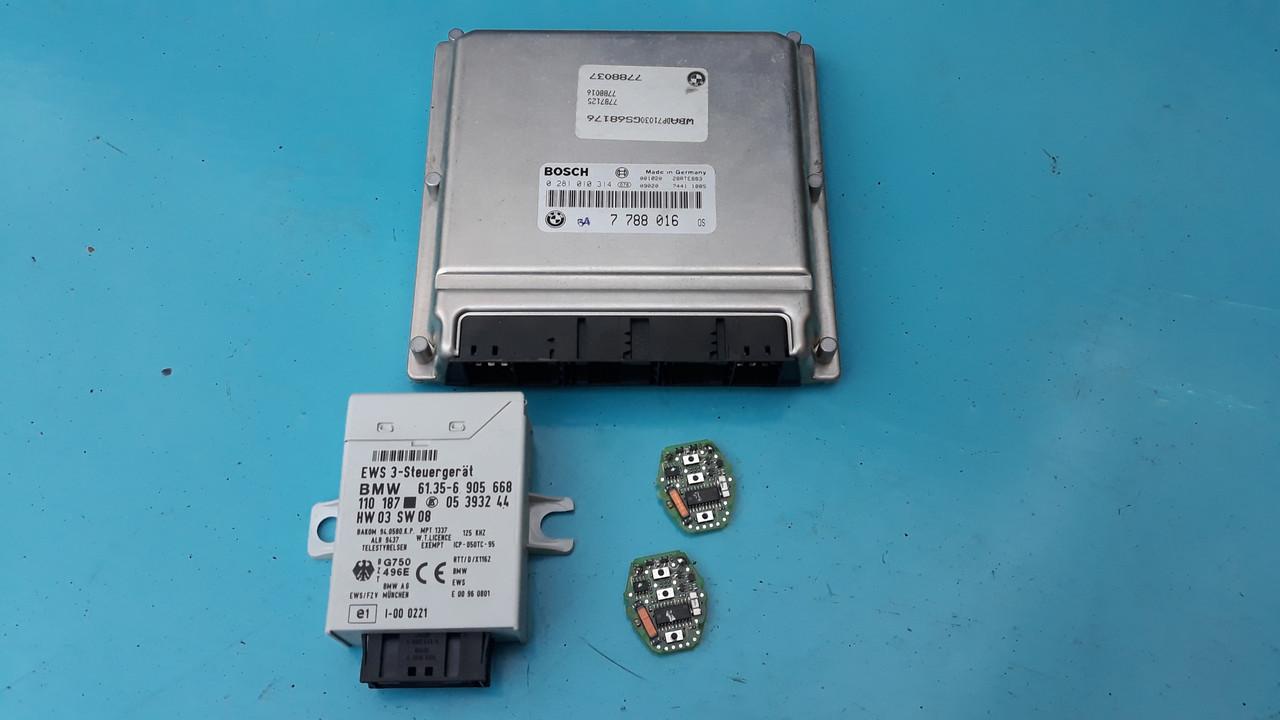 Модуль комплект ews иммобилайзер бмв е39 е46 61356905668 BMW E39 E46
