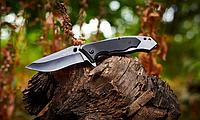 Нож складной, с рукояткой из металла и композита G10 c продуманной насечкой, компактный, многозадачный, фото 1