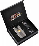Электроимпульсовая зажигалка Apple №4342 silver USB в комплекте Отличный подарок мужчине