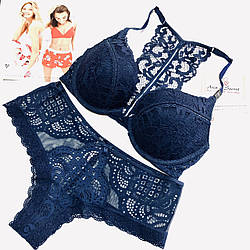 💋 Комплект Белья Victoria's Secret Very Sexy Push-Up 75C/M, Синий