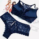 💋 Комплект Белья Victoria's Secret Very Sexy Push-Up 75C/M, Синий, фото 2