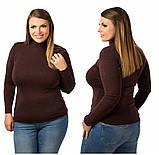 Жіночий модний теплий гольф,тканина трикотаж кашемір,розміри:48-52., фото 4