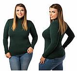 Жіночий модний теплий гольф,тканина трикотаж кашемір,розміри:48-52., фото 10