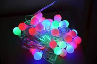Светодиодная гирлянда Шарики, 28 led лампочек, длина 4,5 м, фото 1