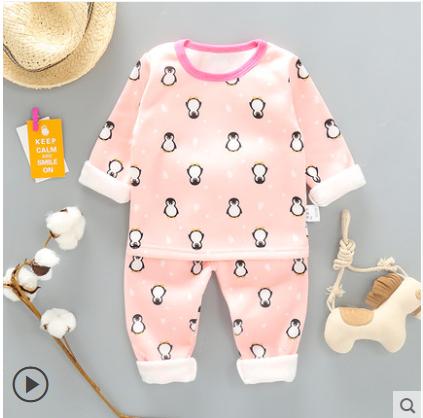Пижама детская для девочку утепленная на флисе на девочку  осень/зима 1-6 лет