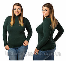 Теплый женский гольф,ткань трикотаж кашемир,размеры:52-56.