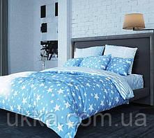 Двуспальное постельное белье ТЕП Ранфорс STAR BLUE