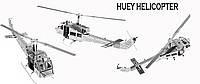 Металлический конструктор Вертолет коллекционная модель