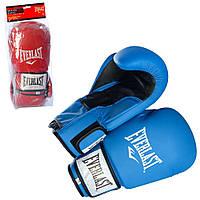 Тренировочные боксерские перчатки на липучке 10-12oz кожа PU Everlast (MS 1946)