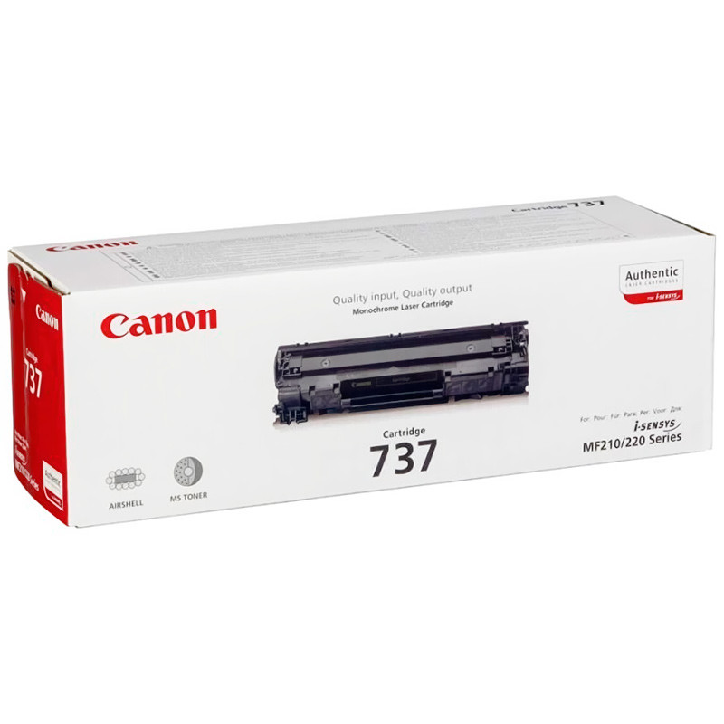 Картридж Canon 737, Black, MF211/212/216/217/226/229, ресурс 2400 листов (9435B002AA)