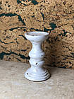 Подсвечник большой декоративный керамический белый, фото 3