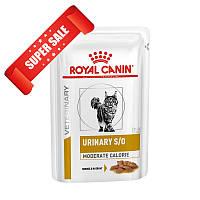 Лечебный влажный корм для котов Royal Canin Urinary S/O Sauce 85 г