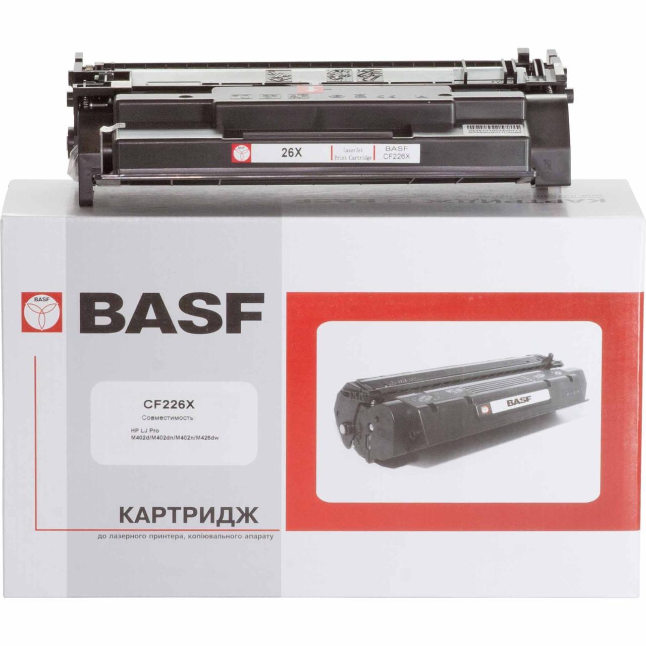 Картридж HP 26X (CF226X), Black, LJ Pro M402, MFP M426, ресурс 9000 листов, BASF (BASF-KT-CF226X)