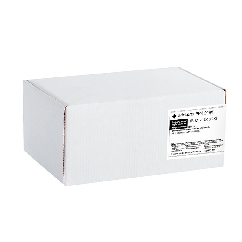 Картридж HP 26X (CF226X), Black, LJ Pro M402, MFP M426, ресурс 9000 листов, PrintPro (PP-H226X)