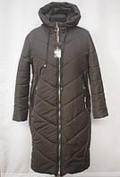Хит!!! Стеганная зимняя  удлиненная куртка -пальто Большие размеры 50р, 52р, 54р, 56р, 58р