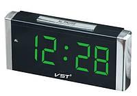 Часы сетевые VST 731-2 зеленые
