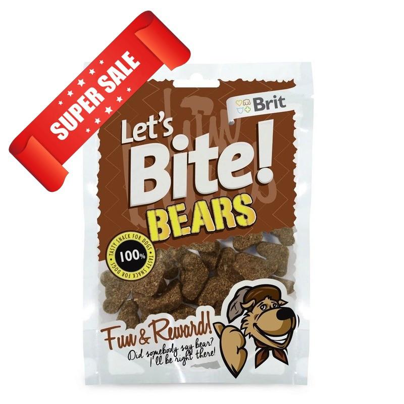 Тренировочные лакомства для собак Brit Let's Bite Bears 150 г